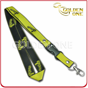 OEM Design Fine Quality Jacquard Polyester Lanyard for Gift