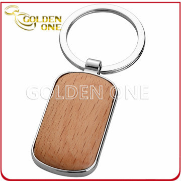 Give Away Cheap Assorted Design Engravable Wooden Key Chain