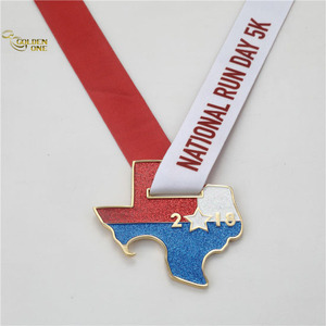 Custom Glitter Running Sport Medal with Bottle Opener