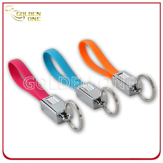 New Design Multifunctional Detachable Metal Key Chain with USB Cable
