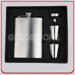 Luxury Wine Accessories Stainless Steel Hip Flask Set