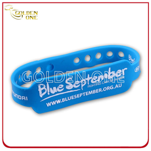 Custom Design Silk Screen Printed Rubber Wristband