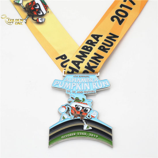 Customized Cut out Glitter Competition Medal