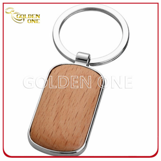 Full Color Printed & Epoxy Metal Keyholder with Wire (MK153)