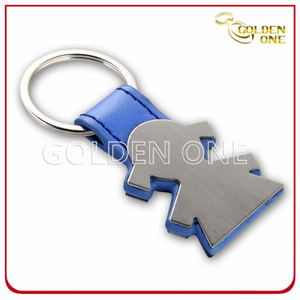 Fancy Design Customised Girl Shape Leather Key Holder