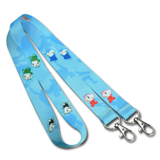Blue Dye Sublimated Polyester Neck Lanyard for Promotion Gift