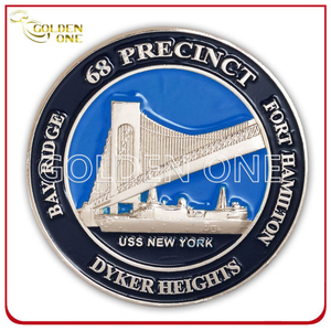 Good Quality Custom Sivler Finish Soft Enamel Souvenir Coin