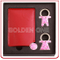 Lady′s Gift Key Chain and Compact Mirror Gift Set
