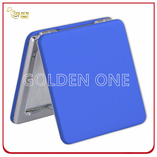 Promotion Gift Classic Design PU Leather Square Compact Mirror