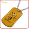 High Quality Anodized Gold Color Aluminum Dog Tag